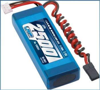 LiPo RX-Pack 2/3A Straight 2500 - RX-only 7.4V