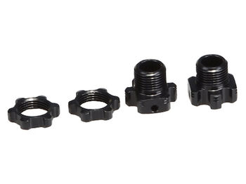 Lightweight +2mm Hex & Nuts (2pcs) by JQRacing