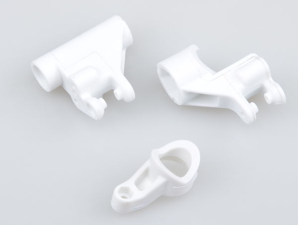 White Plastic Steering Parts by JQRacing
