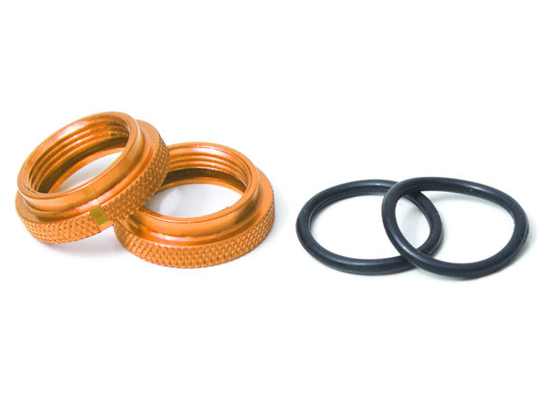 THE Rideheight Adjustment Nut and O-ring 2pcs (Gold)(YE) by JQRacing