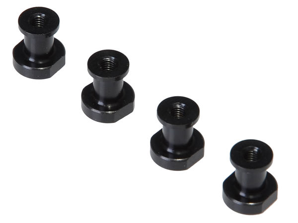 LW CNC Standoff for 1-Piece (Black) (YE, RTR) by JQRacing